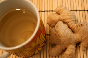 ginger root and tea