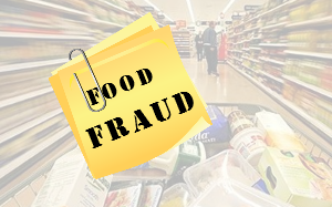 food fraud sign
