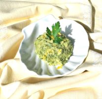 dish avocado and gremolata