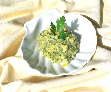 dish avocado and gremolata