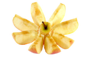 cut apple turned brown