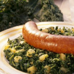 kale with sausage
