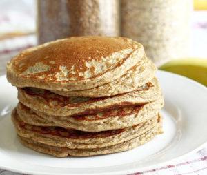banan pancakes with turmeric